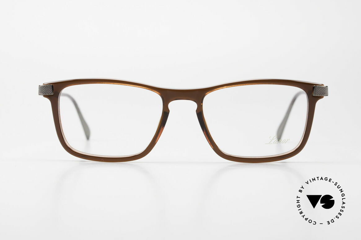 Lunor Imperial Anatomic Titanium Frame 2012 Unisex, brown acetate front with refined titanium temples, top!, Made for Men and Women