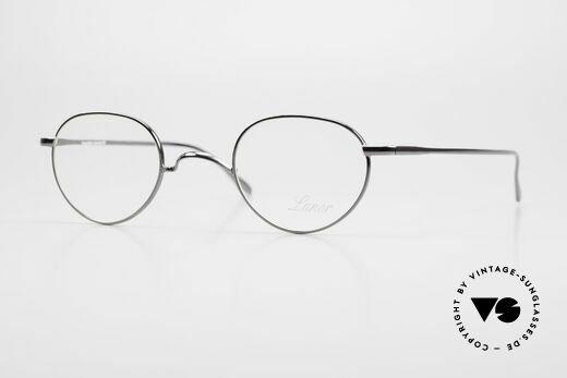 Lunor Club 501 GM Metal Glasses Anatomic Bridge Details