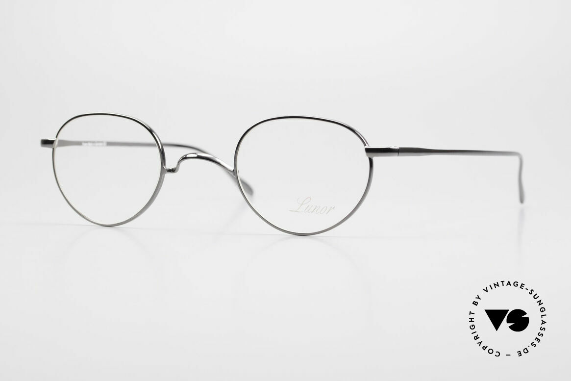"""Lunor Club 501 GM Metal Glasses Anatomic Bridge, LUNOR: shortcut for French """"Lunette d'Or"""" (gold glasses), Made for Men and Women"""