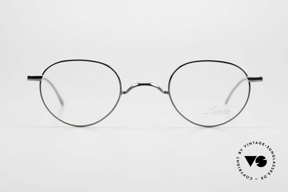 Lunor Club 501 GM Metal Glasses Anatomic Bridge, traditional German brand; quality handmade in Germany, Made for Men and Women