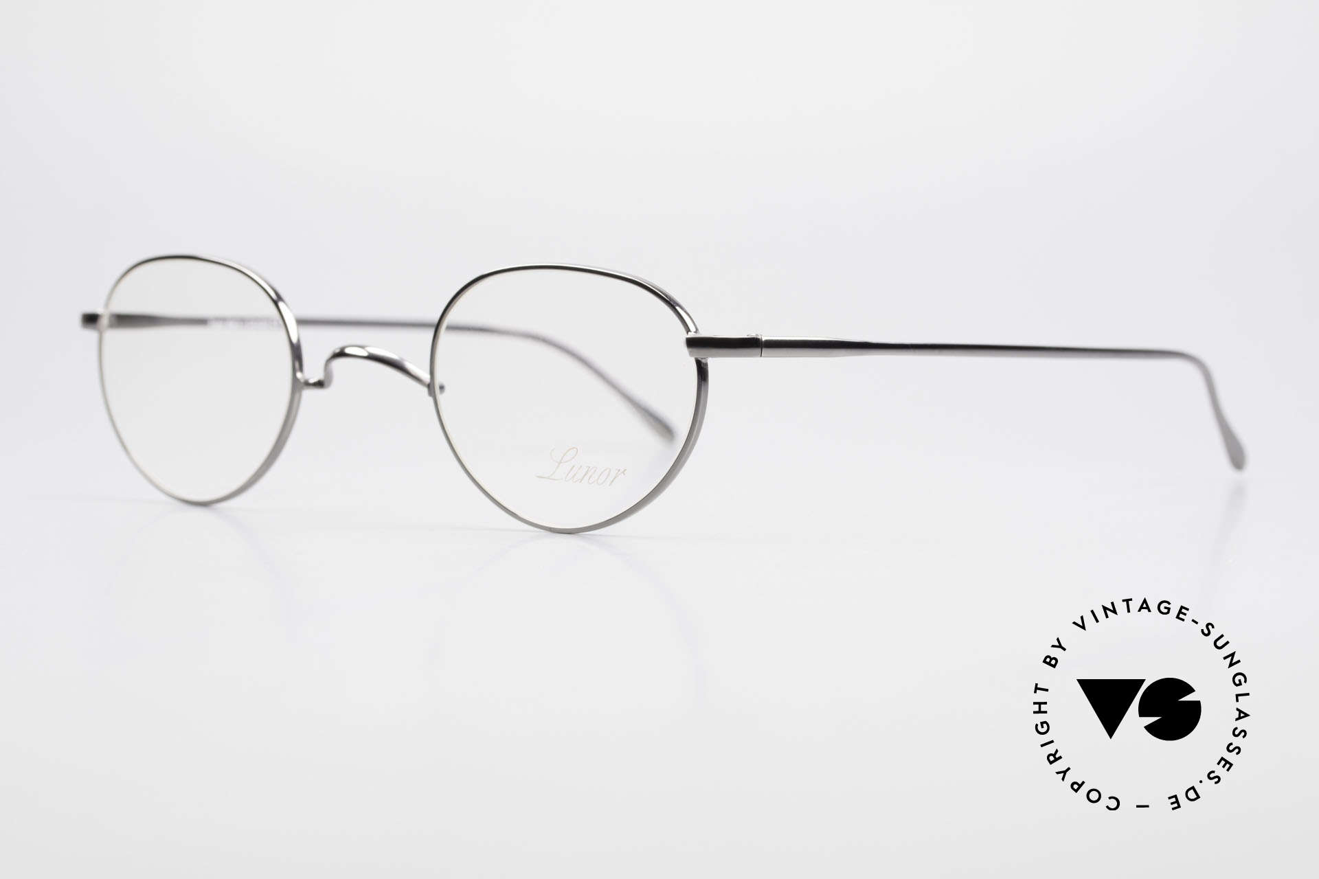 """Lunor Club 501 GM Metal Glasses Anatomic Bridge, well-known for the """"W-bridge"""" & the plain frame designs, Made for Men and Women"""