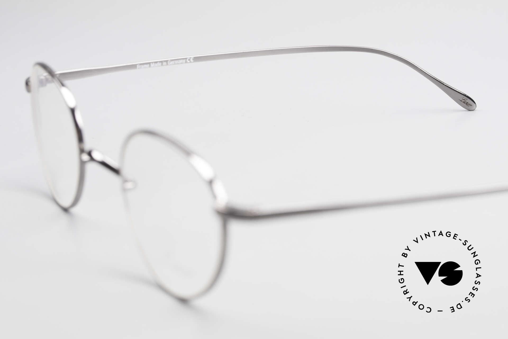 Lunor Club 501 GM Metal Glasses Anatomic Bridge, Size: small, Made for Men and Women