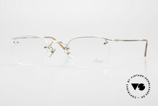 Lunor Classic One Semi Rimless Vintage Glasses Details