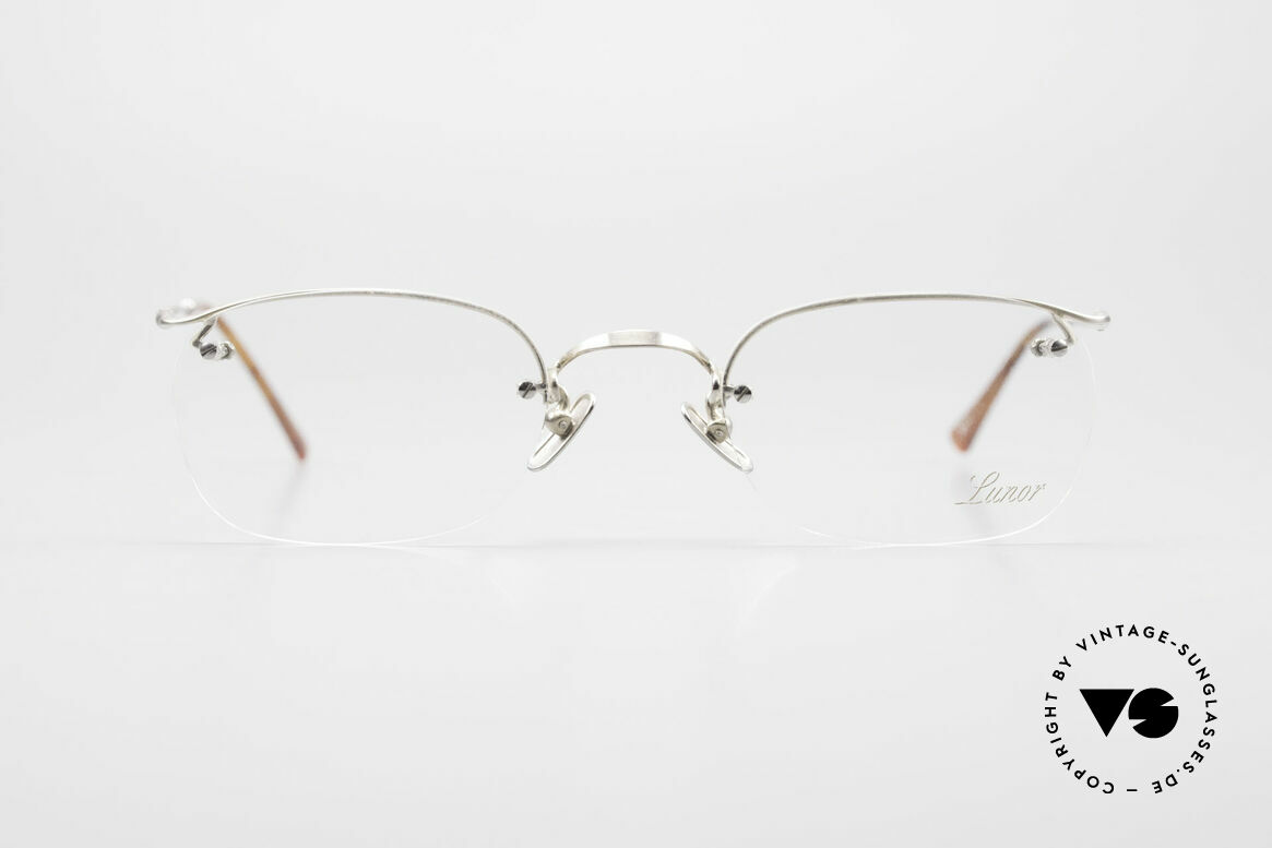 Lunor Classic One Semi Rimless Vintage Glasses, traditional German brand; quality handmade in Germany, Made for Men and Women