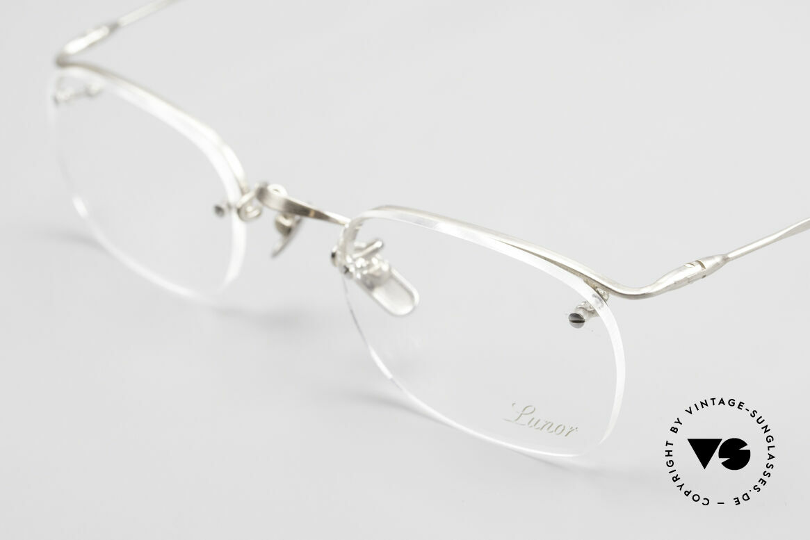 Lunor Classic One Semi Rimless Vintage Glasses, unworn RARITY (for all lovers of quality) from app. 1999, Made for Men and Women