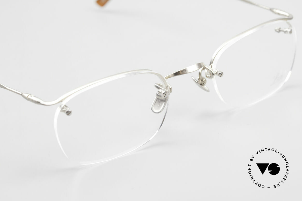 Lunor Classic One Semi Rimless Vintage Glasses, NO RETRO EYEGLASSES; but a luxury vintage ORIGINAL, Made for Men and Women