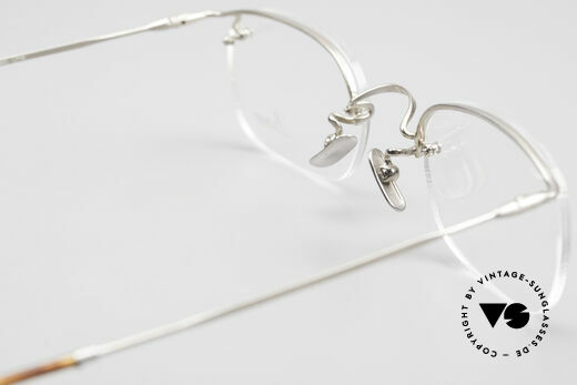 Lunor Classic One Semi Rimless Vintage Glasses, the orig. LUNOR DEMO lenses can be replaced optionally, Made for Men and Women