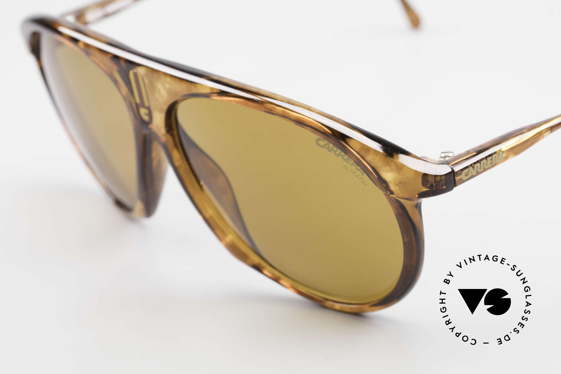 Carrera 5427 Polarized Sports Shades 80's, 1x brown ULTRAPOL & 1x C-Vision gray-gradient, Made for Men and Women