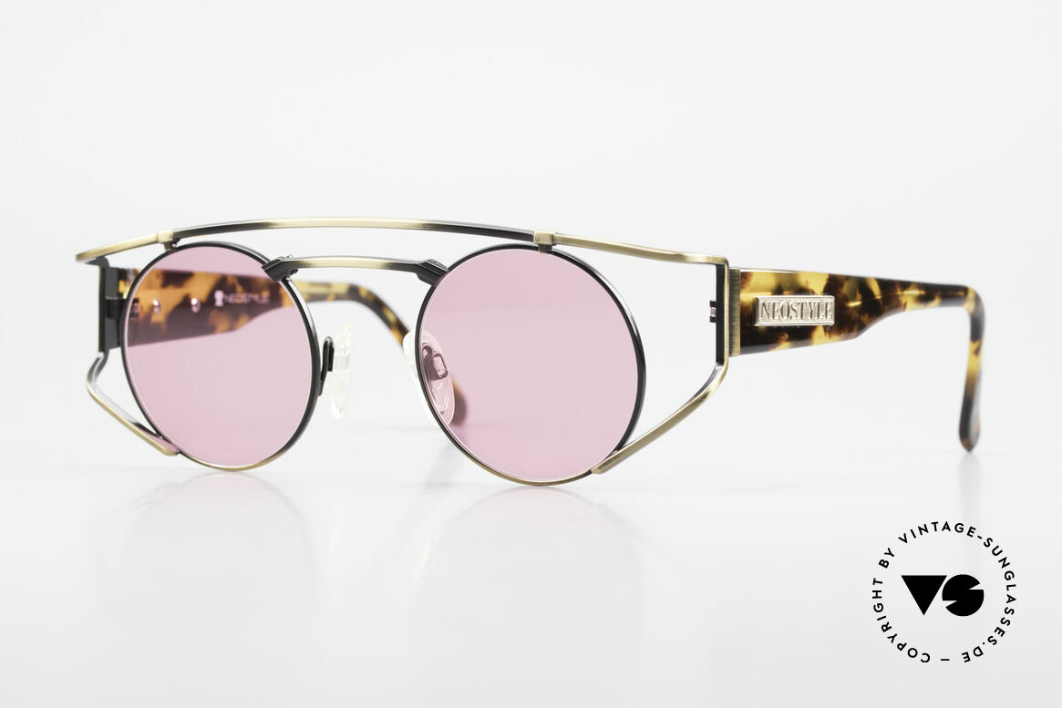 Neostyle Superstar 1 Steampunk Sunglasses Pink, NEOSTYLE Superstar 1, col. 801, size 45-23 frame, Made for Men and Women