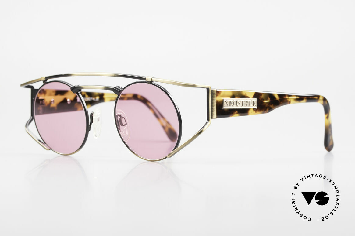 Neostyle Superstar 1 Steampunk Sunglasses Pink, yellow-brownish coloring in a kind of camouflage, Made for Men and Women