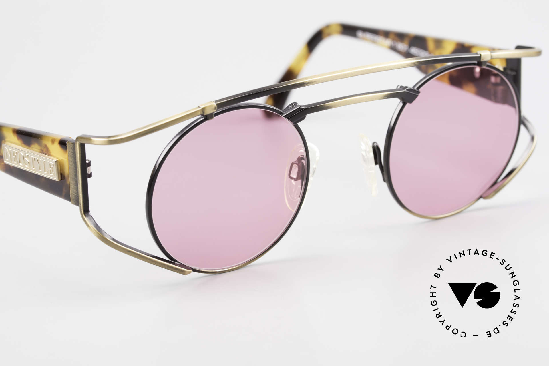 Neostyle Superstar 1 Steampunk Sunglasses Pink, unworn (like all our vintage STEAMPUNK glasses), Made for Men and Women