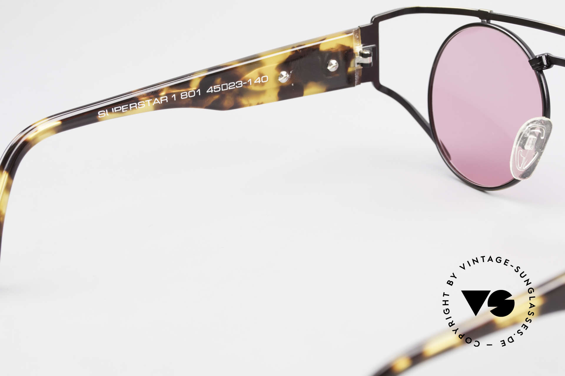 Neostyle Superstar 1 Steampunk Sunglasses Pink, an old ORIGINAL with new fancy pink sun lenses, Made for Men and Women