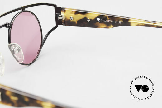 Neostyle Superstar 1 Steampunk Sunglasses Pink, Size: medium, Made for Men and Women