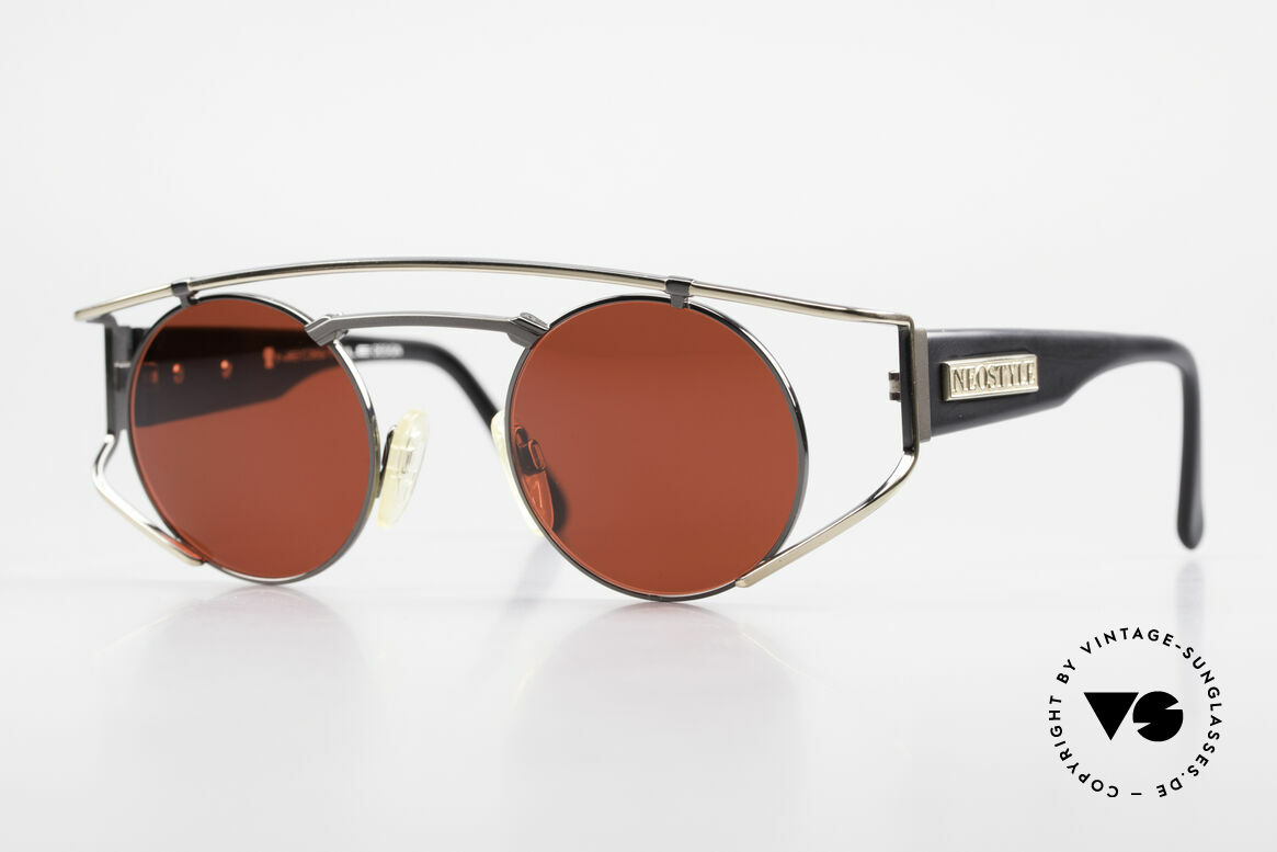 Neostyle Superstar 1 Steampunk Sunglasses 3D Red, NEOSTYLE Superstar 1, col. 357, size 45-23 frame, Made for Men and Women