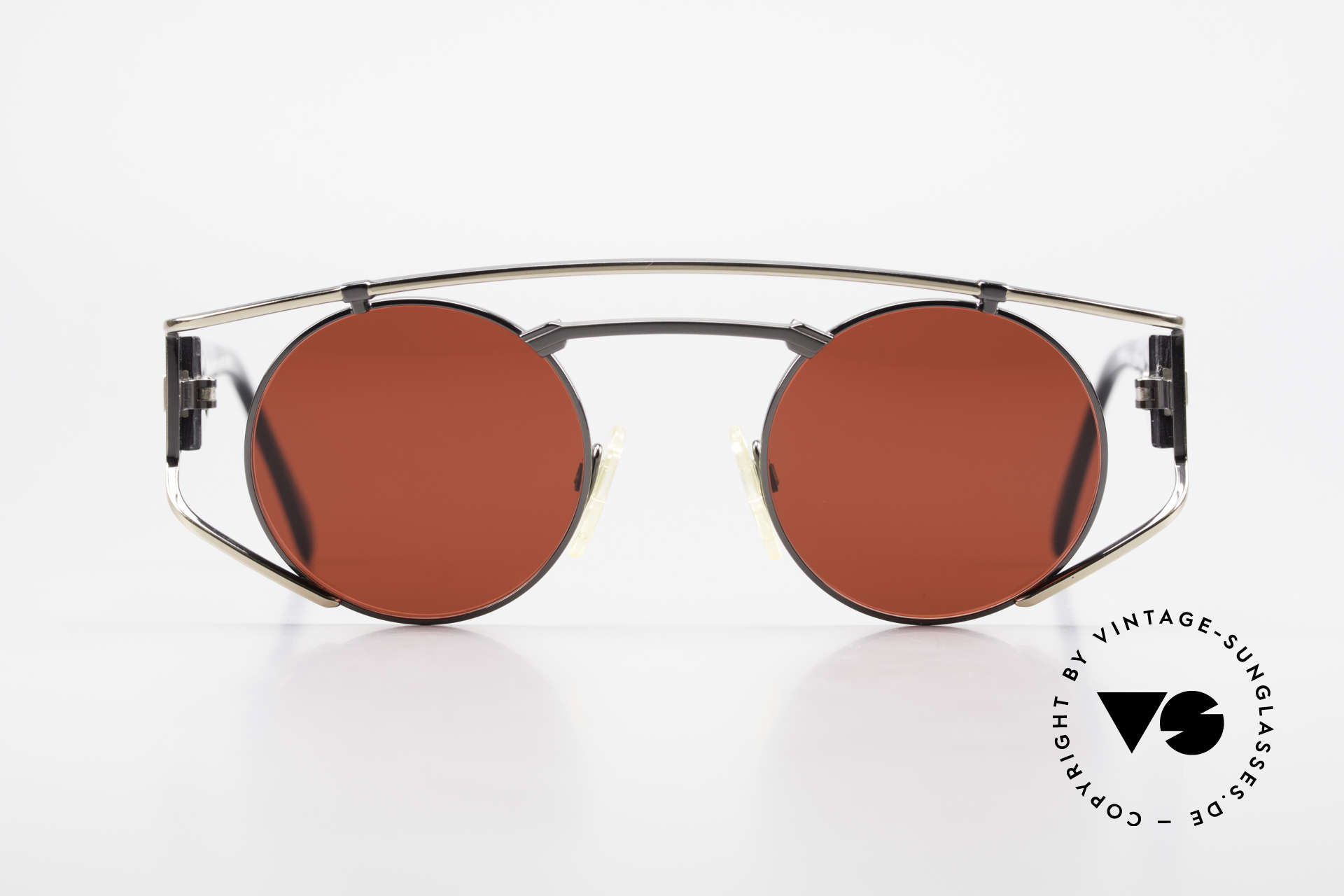 """Neostyle Superstar 1 Steampunk Sunglasses 3D Red, the name says it all: """"SUPERSTAR vintage glasses"""", Made for Men and Women"""