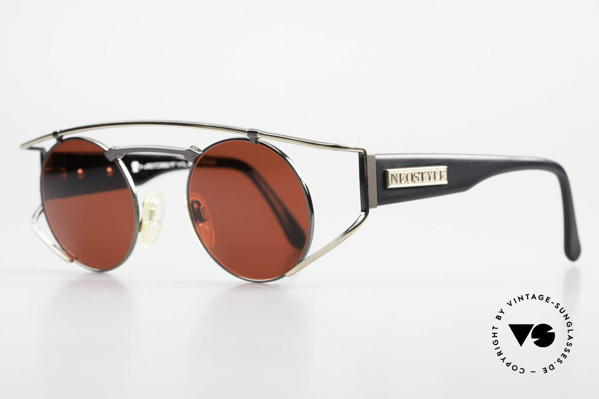 Neostyle Superstar 1 Steampunk Sunglasses 3D Red, very noble frame with gunmetal, black and gold, Made for Men and Women