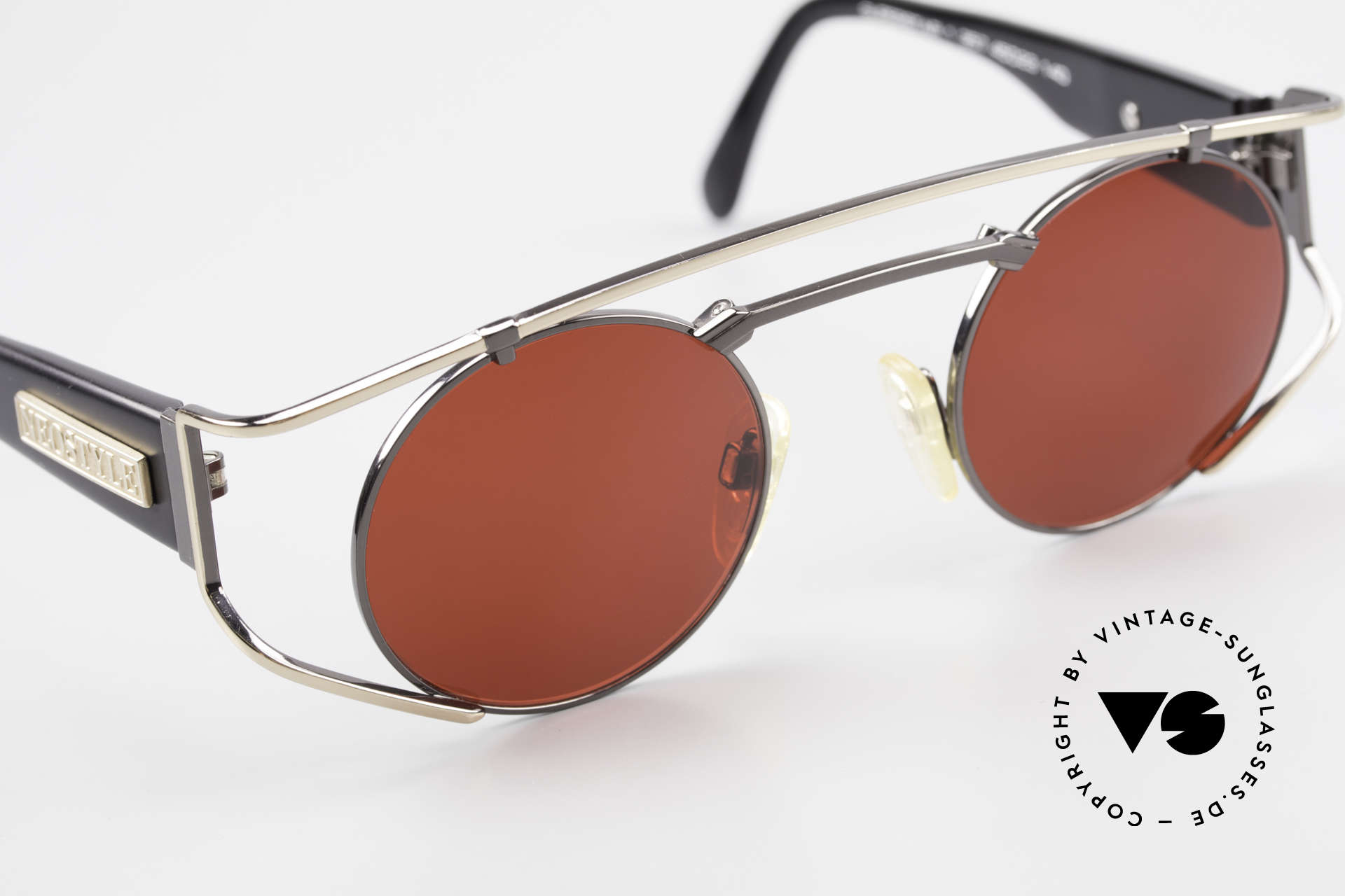 Neostyle Superstar 1 Steampunk Sunglasses 3D Red, the gaudy 3D red lenses can be replaced optionally, Made for Men and Women