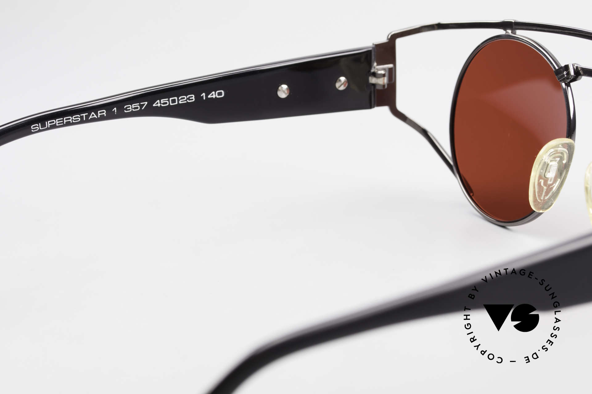 Neostyle Superstar 1 Steampunk Sunglasses 3D Red, NO RETRO sunglasses, but a rare old 90's original, Made for Men and Women