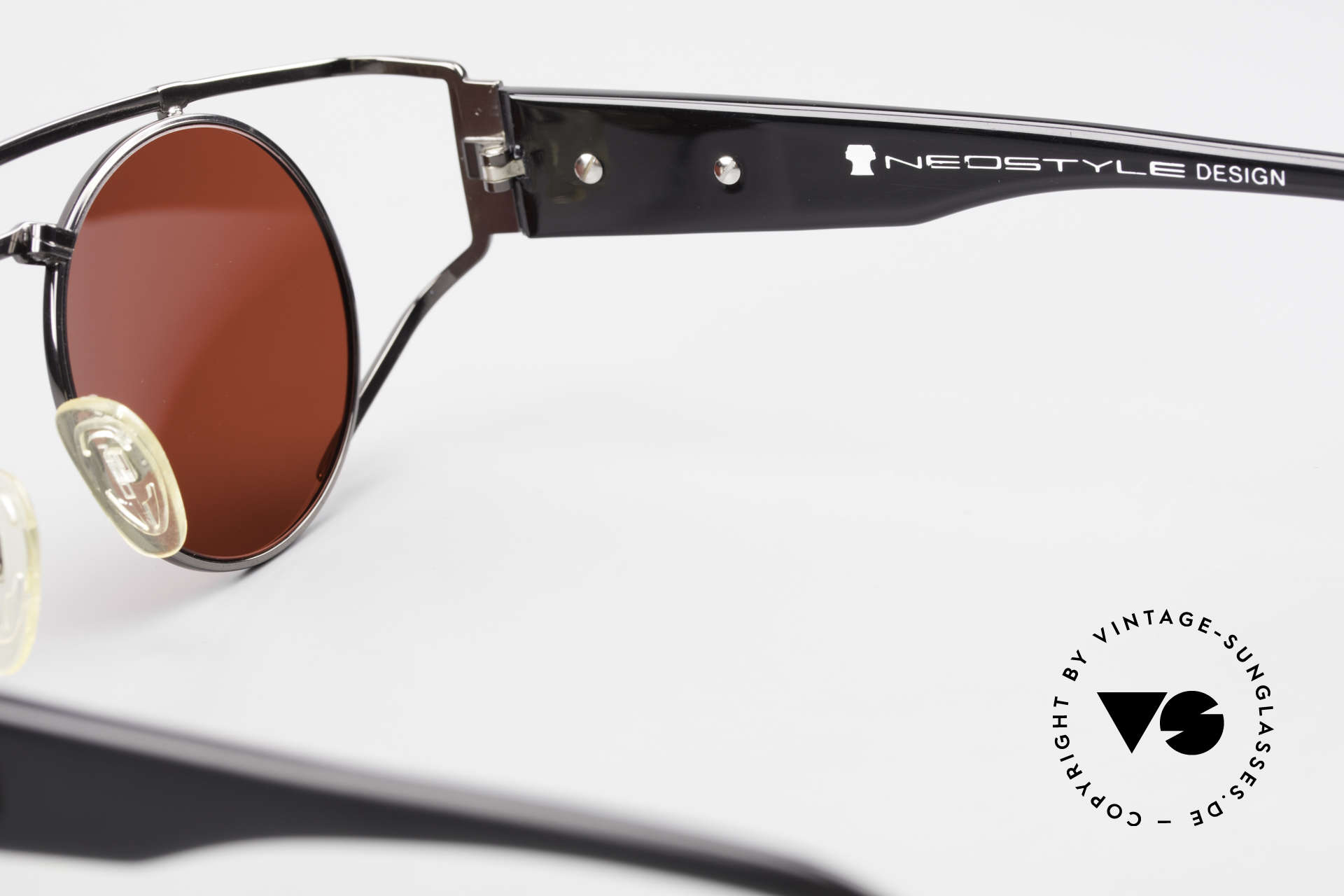 Neostyle Superstar 1 Steampunk Sunglasses 3D Red, Size: medium, Made for Men and Women