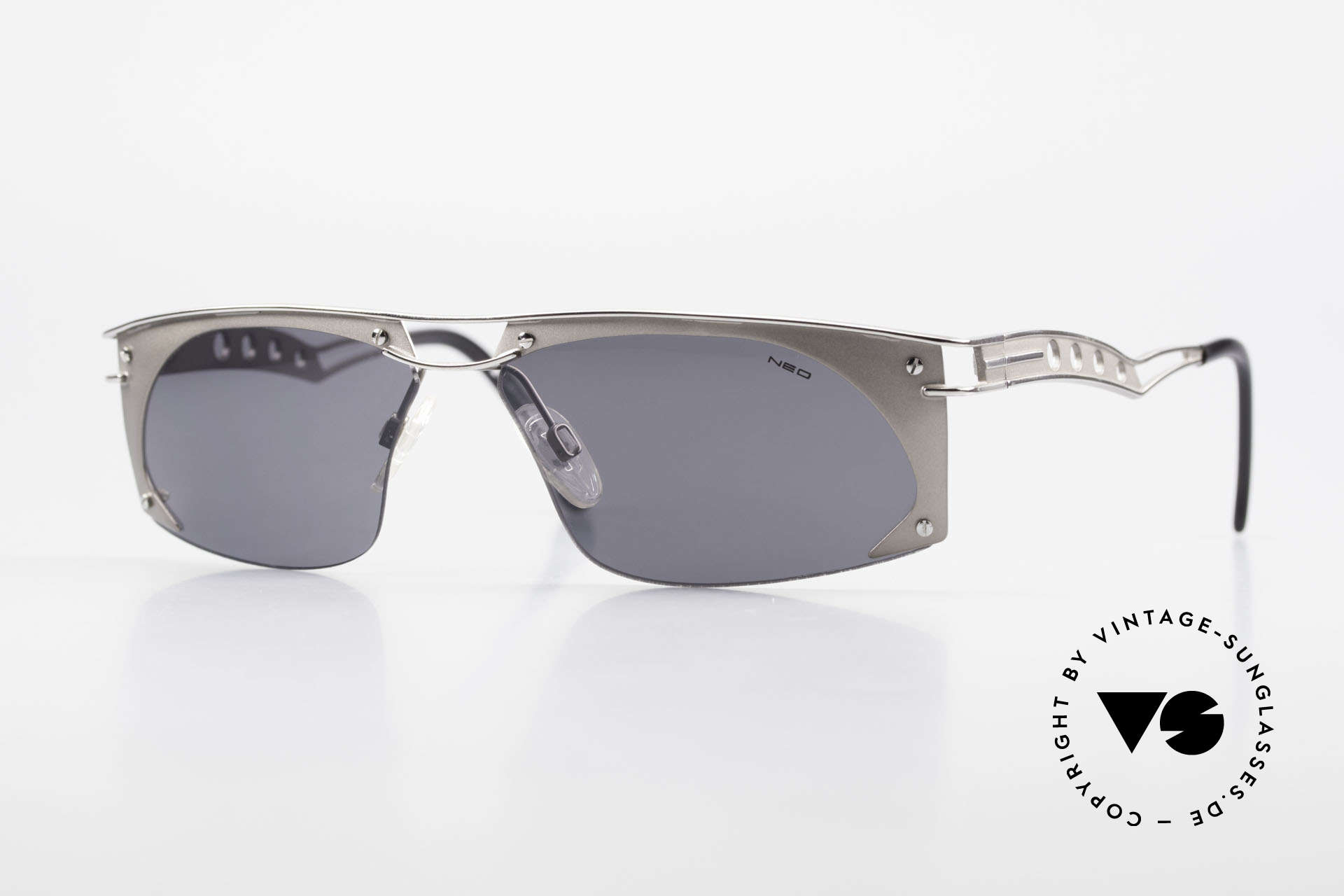 Neostyle Holiday 968 1990's Steampunk Sunglasses, extraordinary NEOSTYLE sunglasses from the 90's, Made for Men