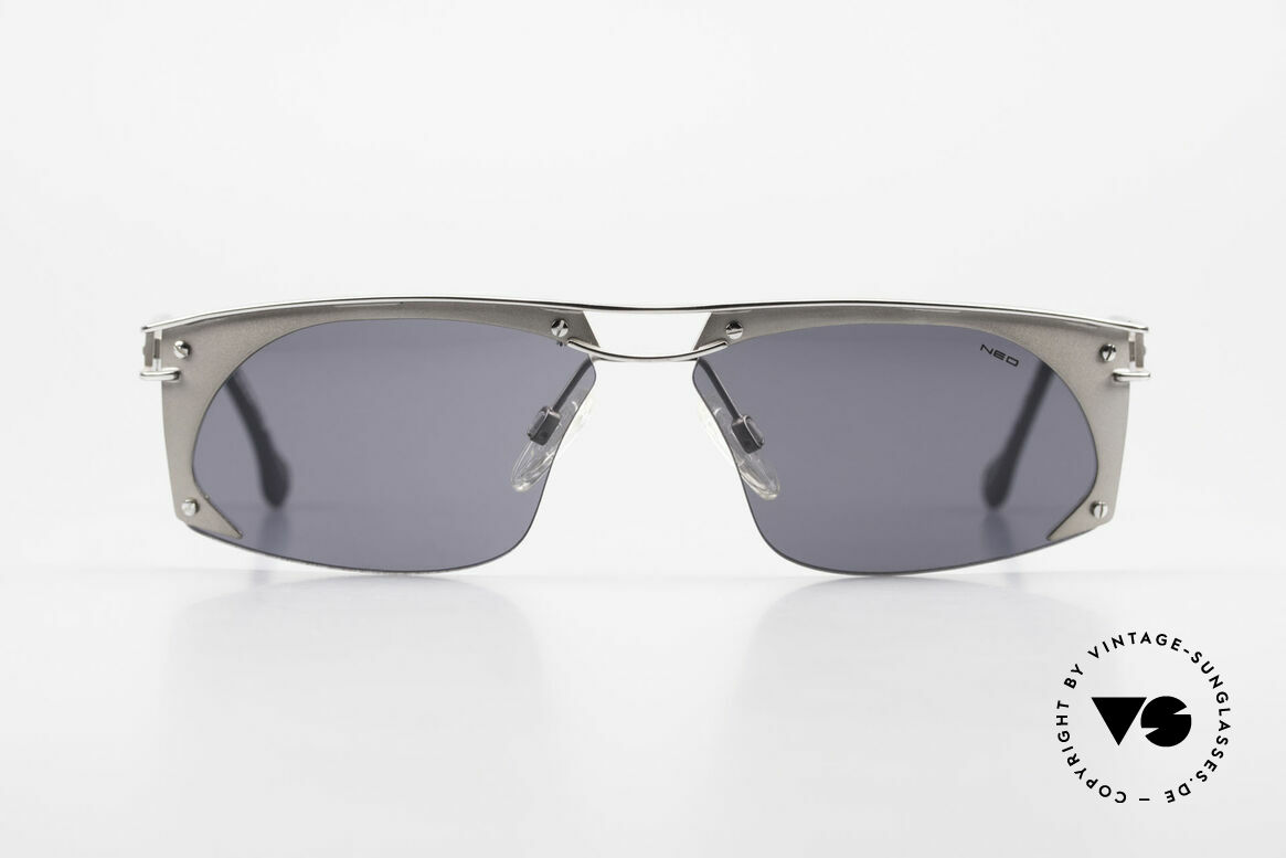 Neostyle Holiday 968 1990's Steampunk Sunglasses, spectacular frame construction (Industrial Style), Made for Men