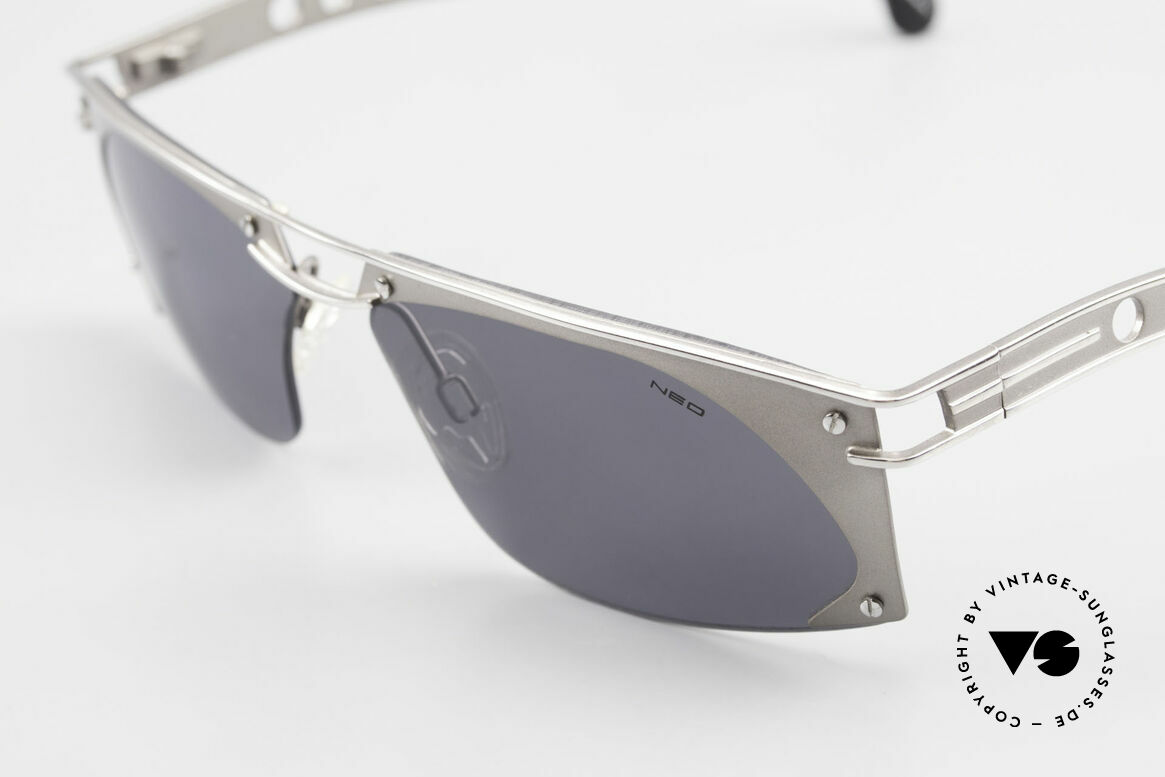 Neostyle Holiday 968 1990's Steampunk Sunglasses, unworn (like all our old 90's designer sunglasses), Made for Men
