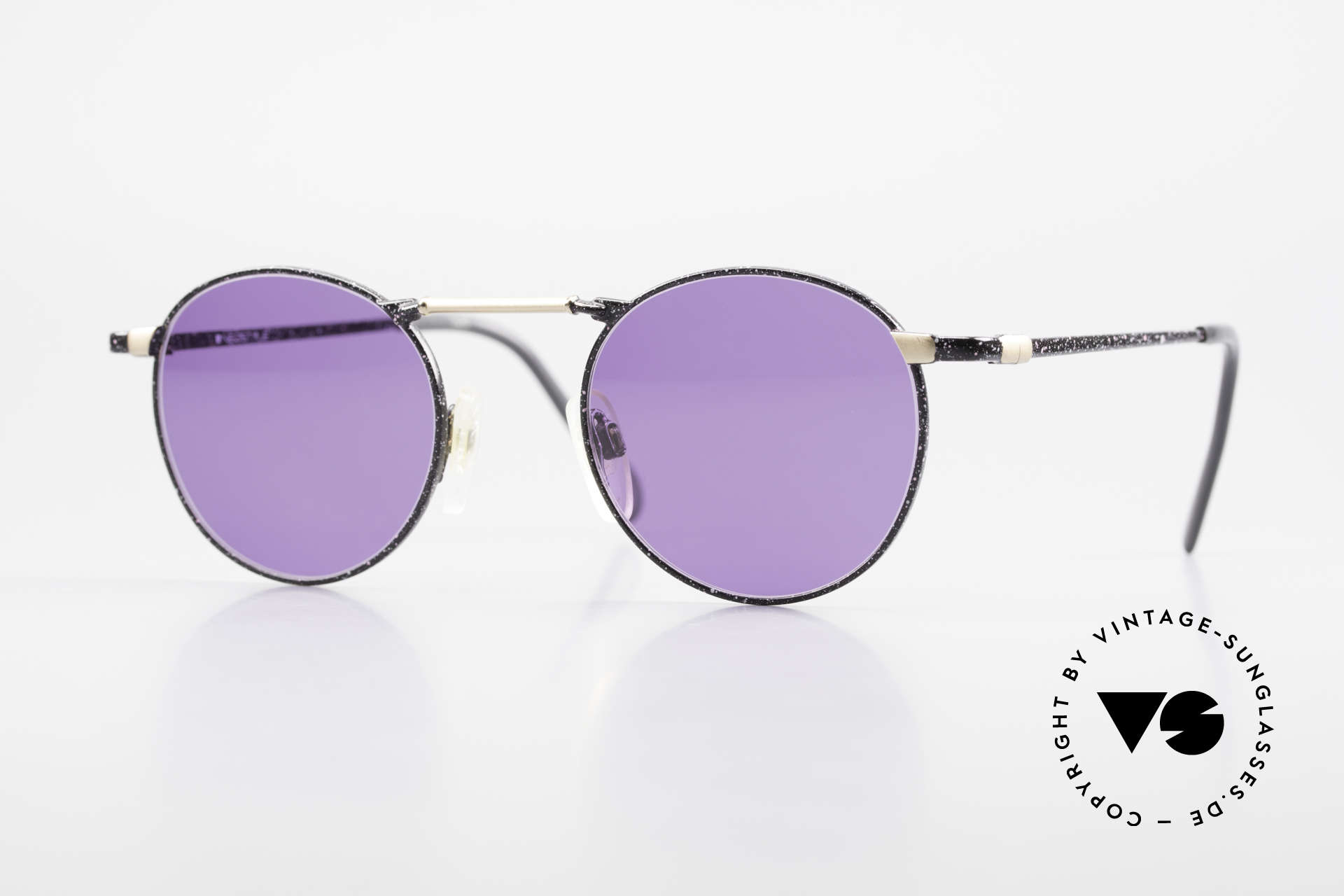 Neostyle Academic 2 80's Purple Panto Sunglasses, Neostlye Academic  2/099 48/22 vintage shades, Made for Men and Women