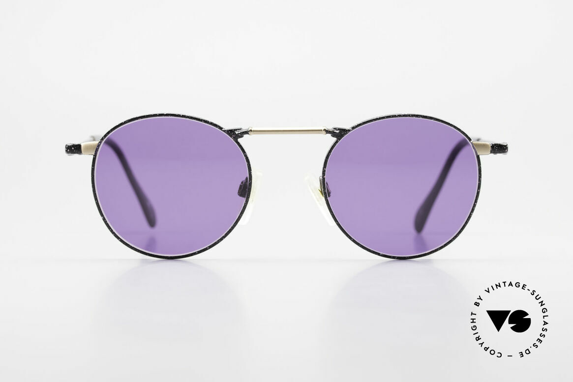 Neostyle Academic 2 80's Purple Panto Sunglasses, very interesting panto sunglasses of the 1980's, Made for Men and Women