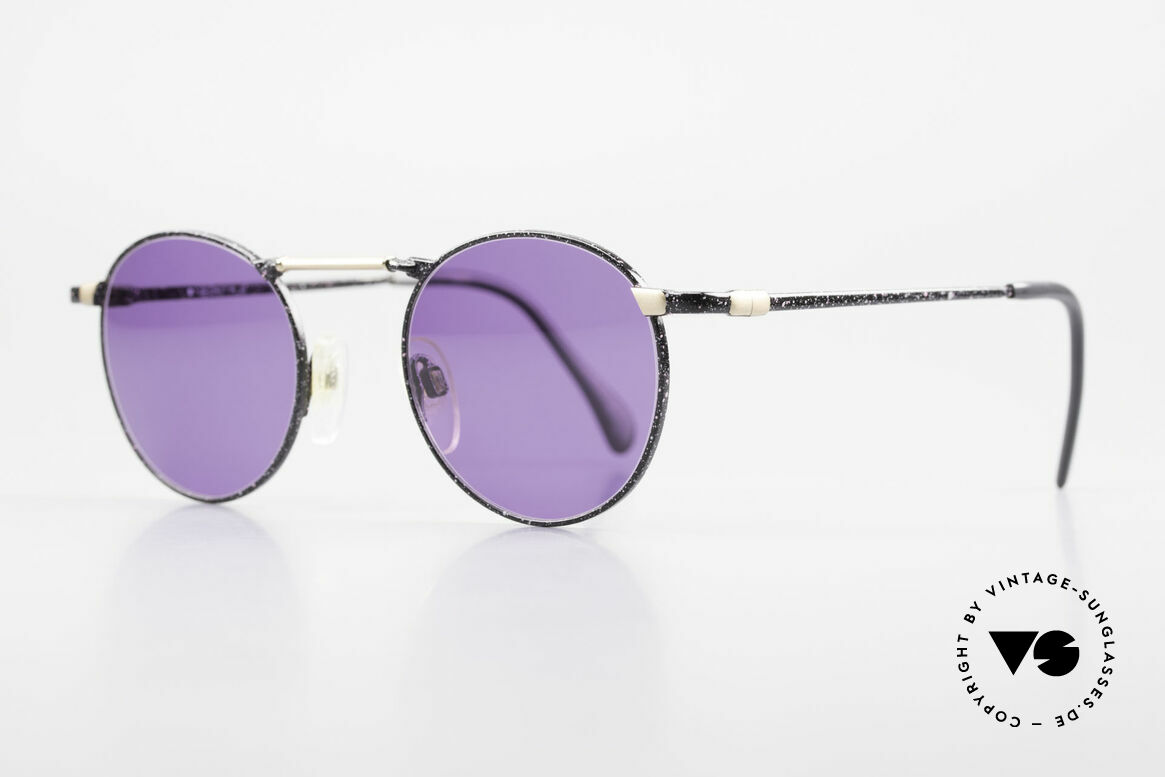Neostyle Academic 2 80's Purple Panto Sunglasses, truly high-end craftsmanship, made in Germany, Made for Men and Women