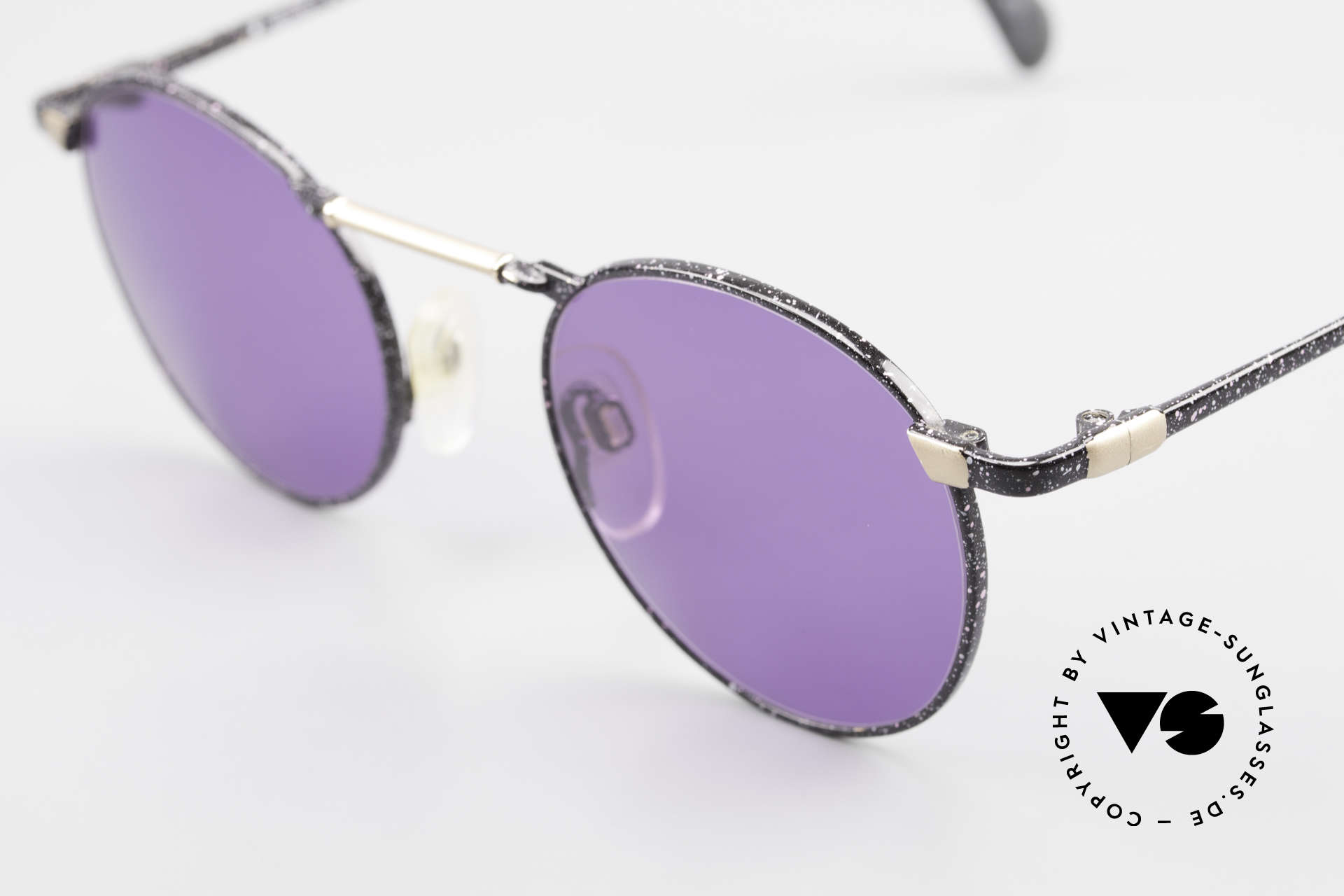 Neostyle Academic 2 80's Purple Panto Sunglasses, the frame pattern looks purple-black mottled, Made for Men and Women