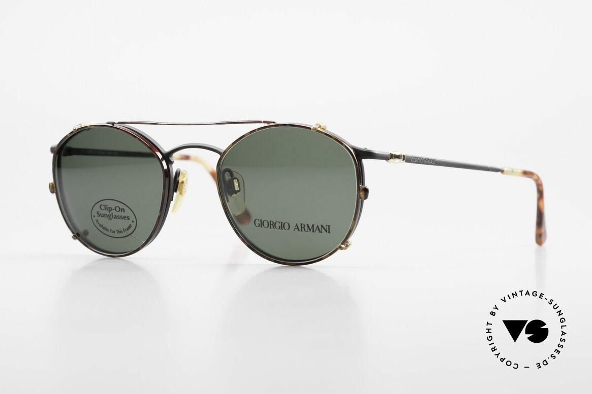 Giorgio Armani 132 Clip On Panto Eyeglasses 90's, timeless vintage Giorgio Armani designer eyeglasses, Made for Men