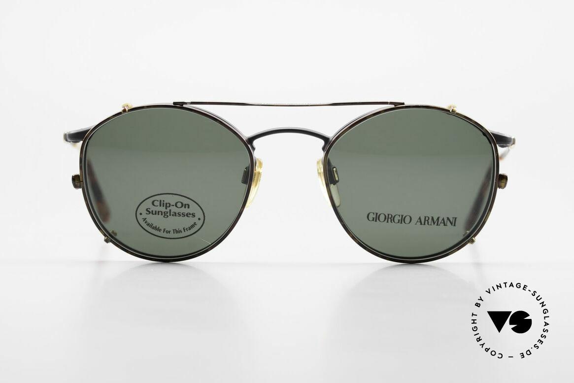 Giorgio Armani 132 Clip On Panto Eyeglasses 90's, world famous 'panto'-design .. a real eyewear classic, Made for Men