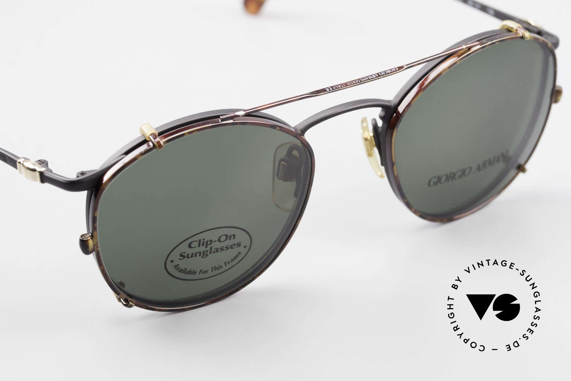 Giorgio Armani 132 Clip On Panto Eyeglasses 90's, unworn (like all our vintage GIORGIO Armani frames), Made for Men
