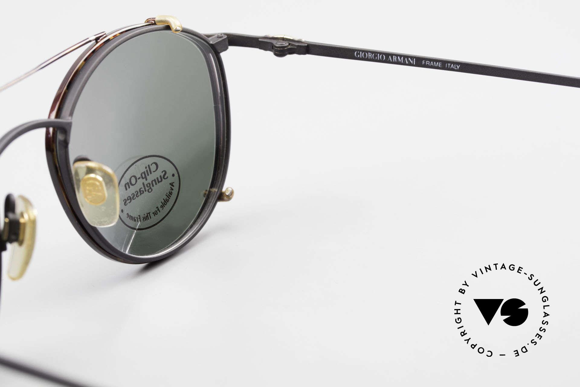Giorgio Armani 132 Clip On Panto Eyeglasses 90's, NO retro specs, but a unique 30 years old ORIGINAL!, Made for Men