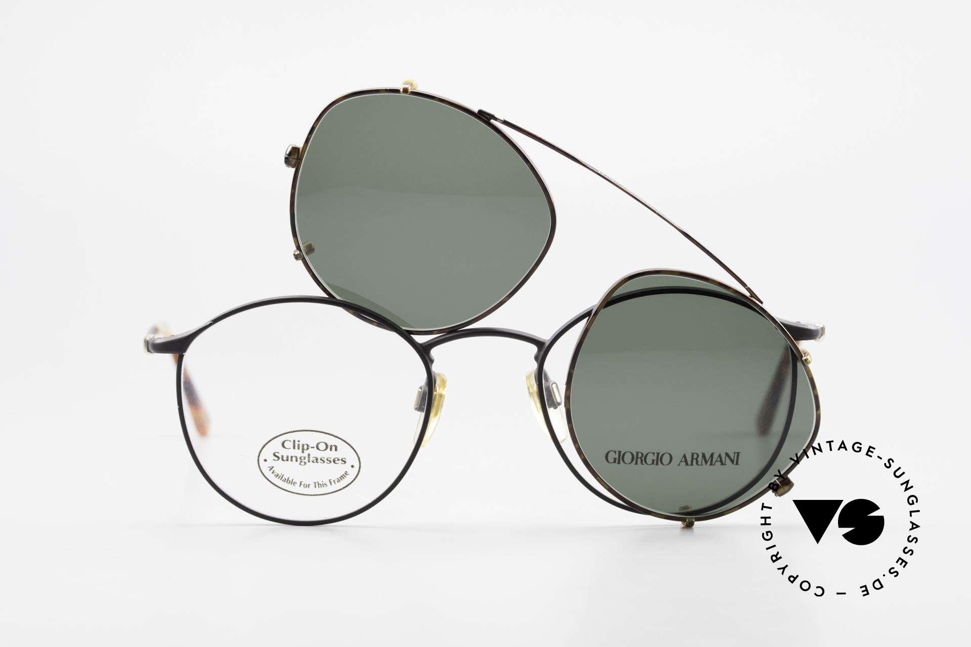 Giorgio Armani 132 Clip On Panto Eyeglasses 90's, Size: medium, Made for Men