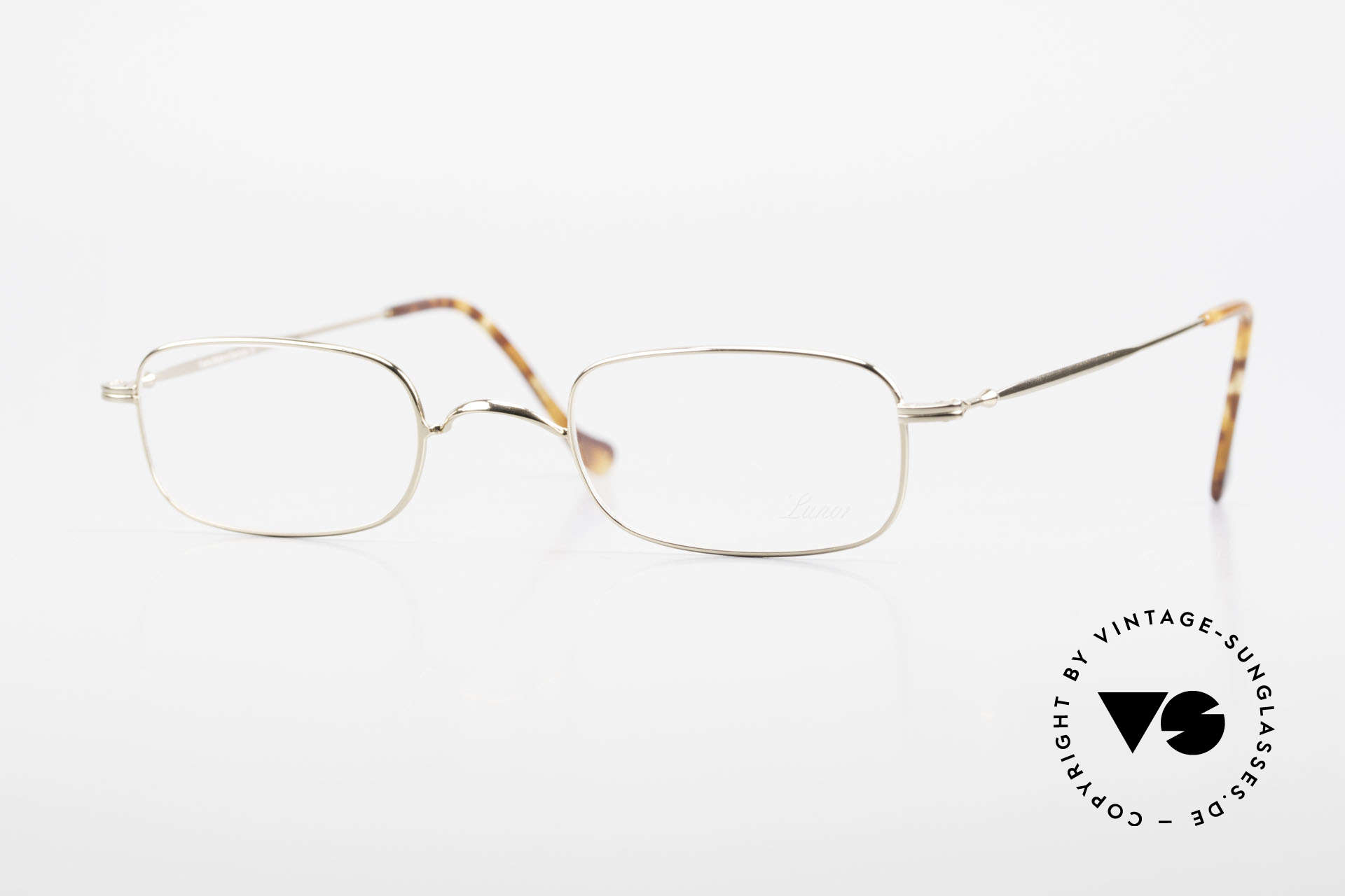 Lunor XV 321 Titanium Frame Gold-Plated, fine Lunor frame made of Titanium (weighs 9gram only), Made for Men and Women