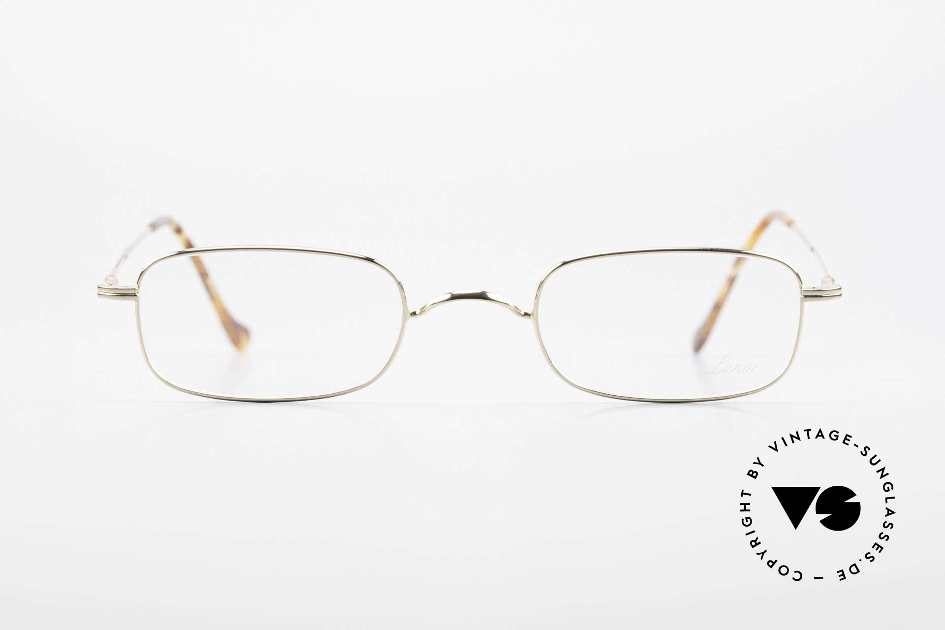 Lunor XV 321 Titanium Frame Gold-Plated, gold-plated, full rimmed, with an anatomic nose bridge, Made for Men and Women