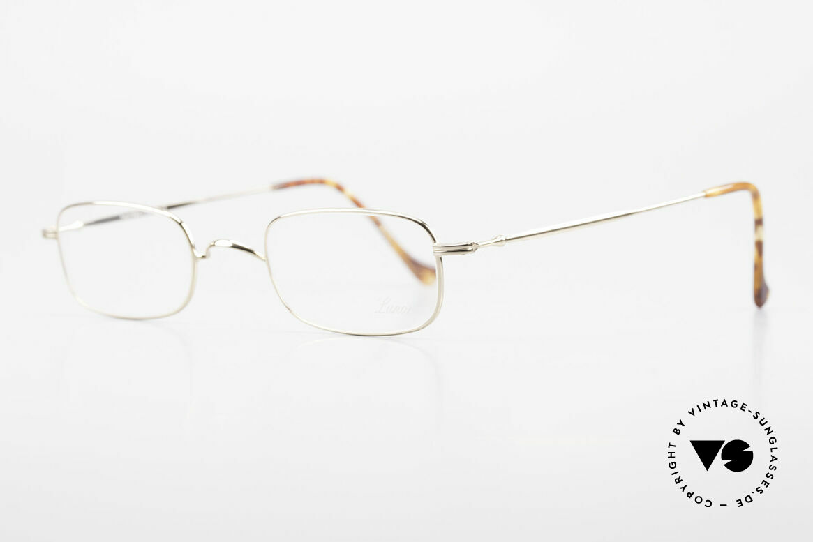 Lunor XV 321 Titanium Frame Gold-Plated, small unisex eyeglasses (suitable for ladies and gents), Made for Men and Women