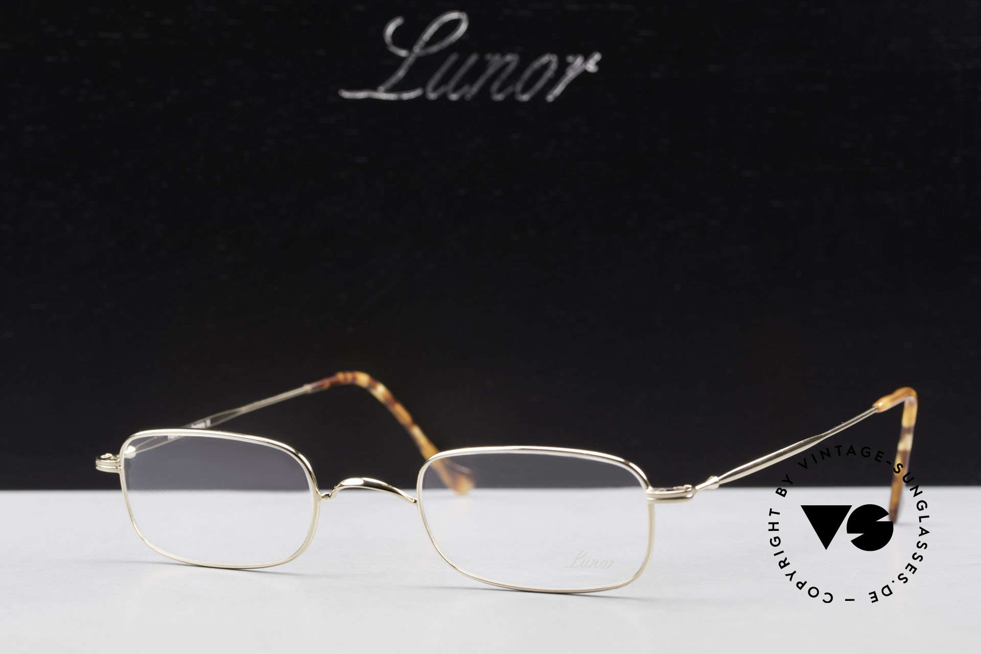 Lunor XV 321 Titanium Frame Gold-Plated, Size: small, Made for Men and Women