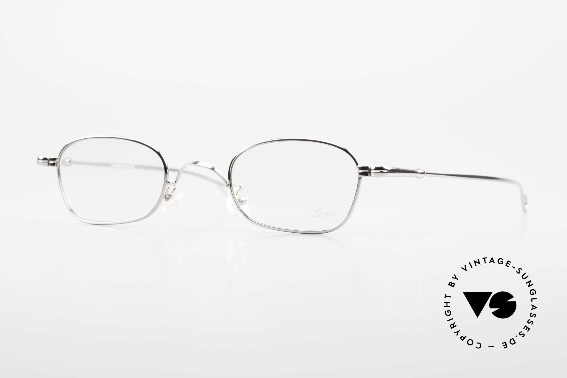 Lunor V 106 Full Metal Frame Platinum, LUNOR: honest craftsmanship with attention to details, Made for Men and Women