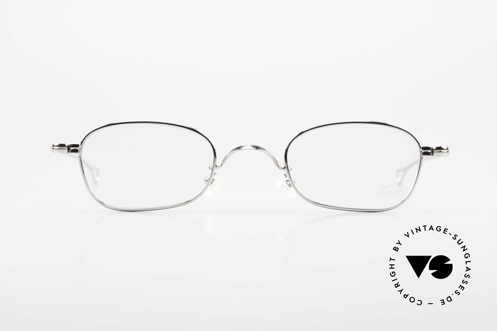 Lunor V 106 Full Metal Frame Platinum, without ostentatious logos (but in a timeless elegance), Made for Men and Women