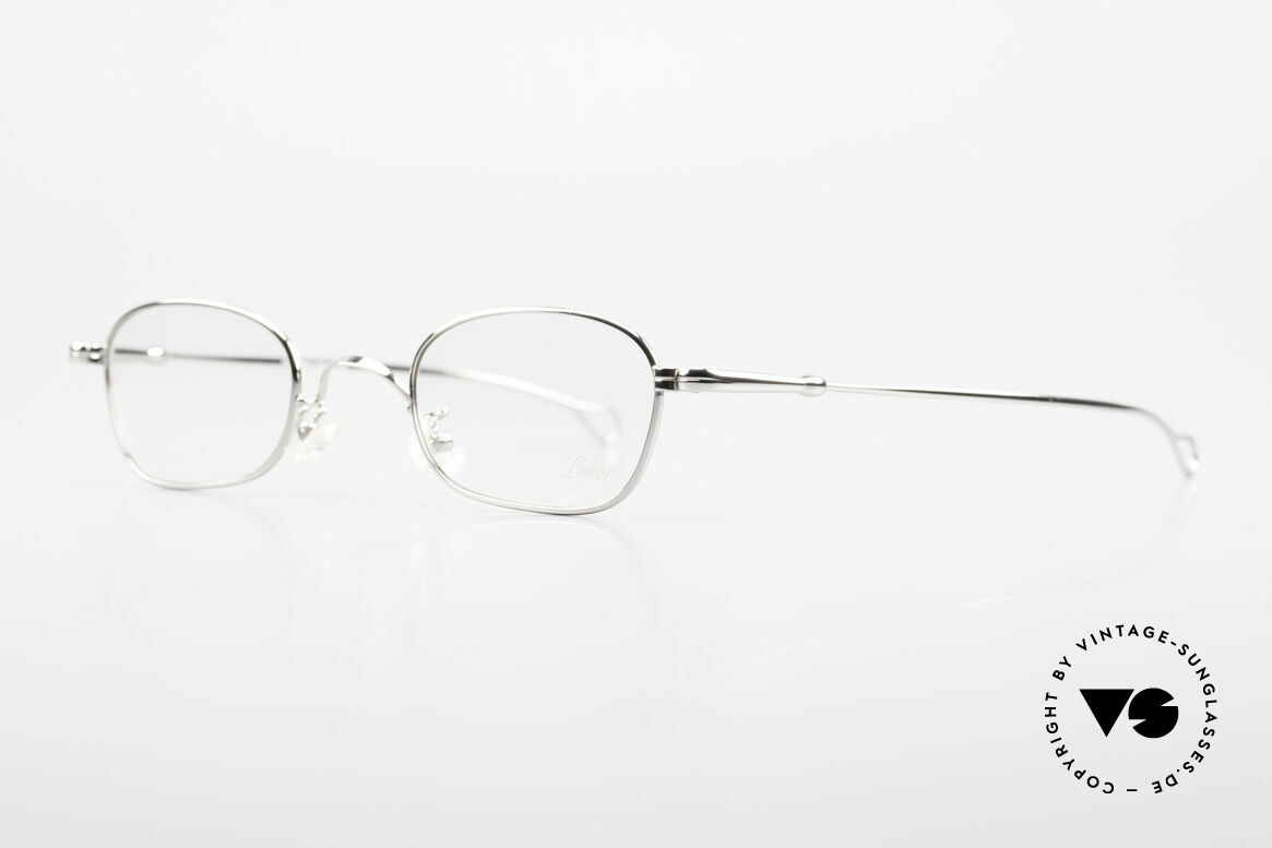 Lunor V 106 Full Metal Frame Platinum, mod. V 106: very noble full rimmed metal frame, unisex, Made for Men and Women