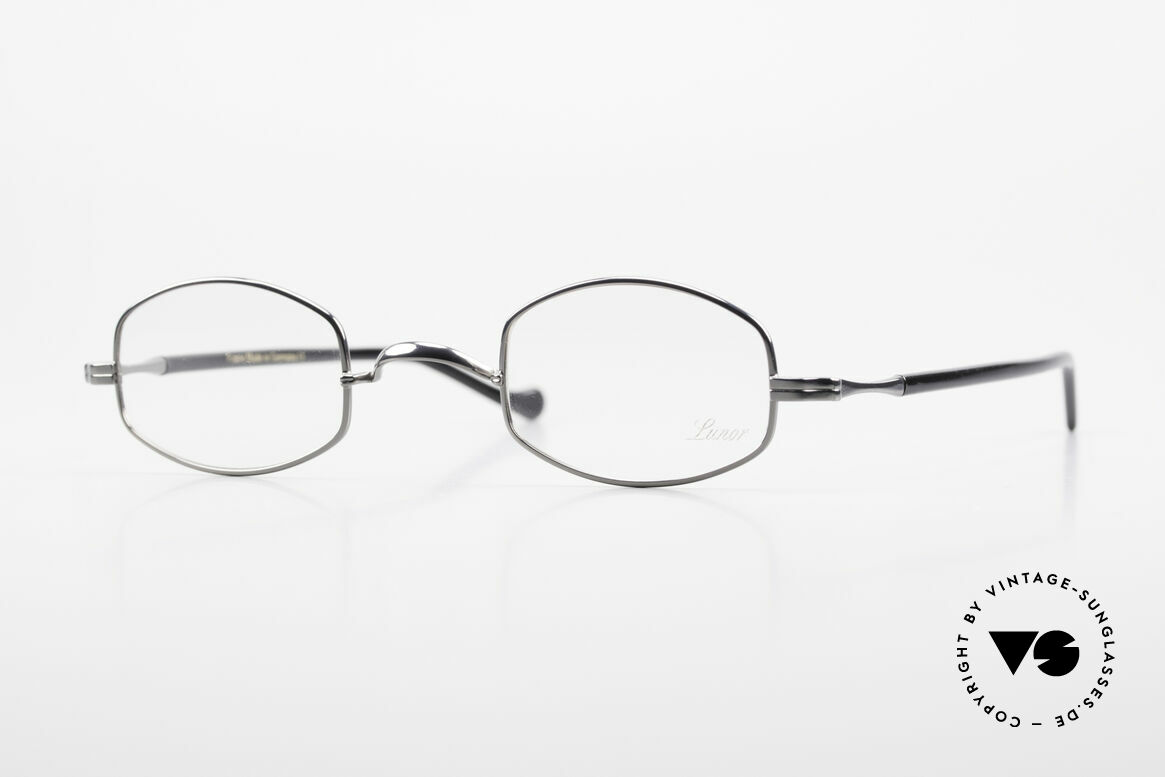 Lunor II A 16 Metal Frame Acetate Temples, Lunor II-A 16: metal frame with acetate-metal temples, Made for Men and Women