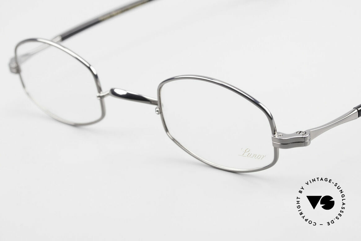 Lunor II A 16 Metal Frame Acetate Temples, traditional German brand; quality handmade in Germanys, Made for Men and Women