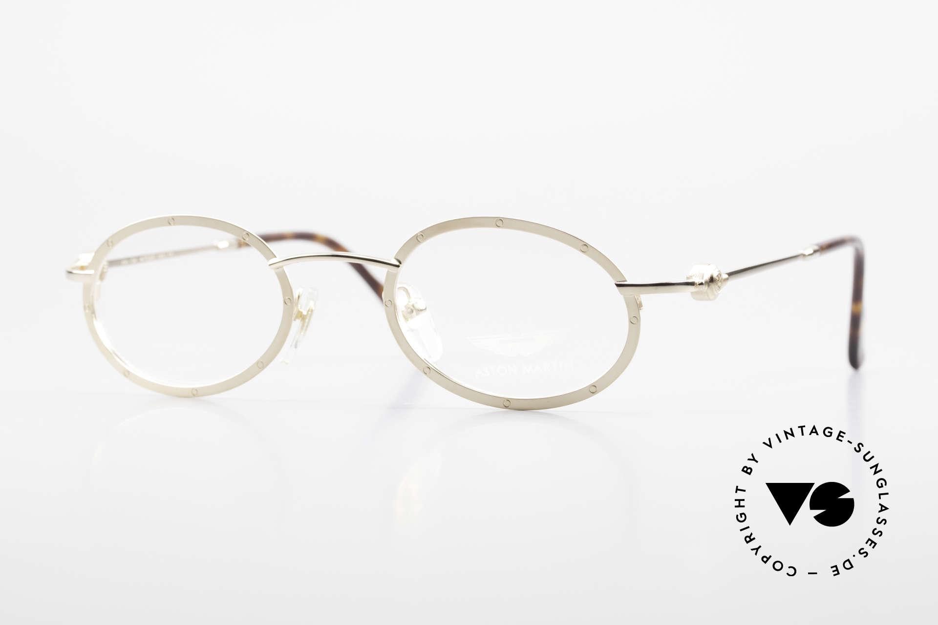 Aston Martin AM34 Oval James Bond Glasses 007, Aston Martin vintage luxury designer eyeglasses, 47°23, Made for Men