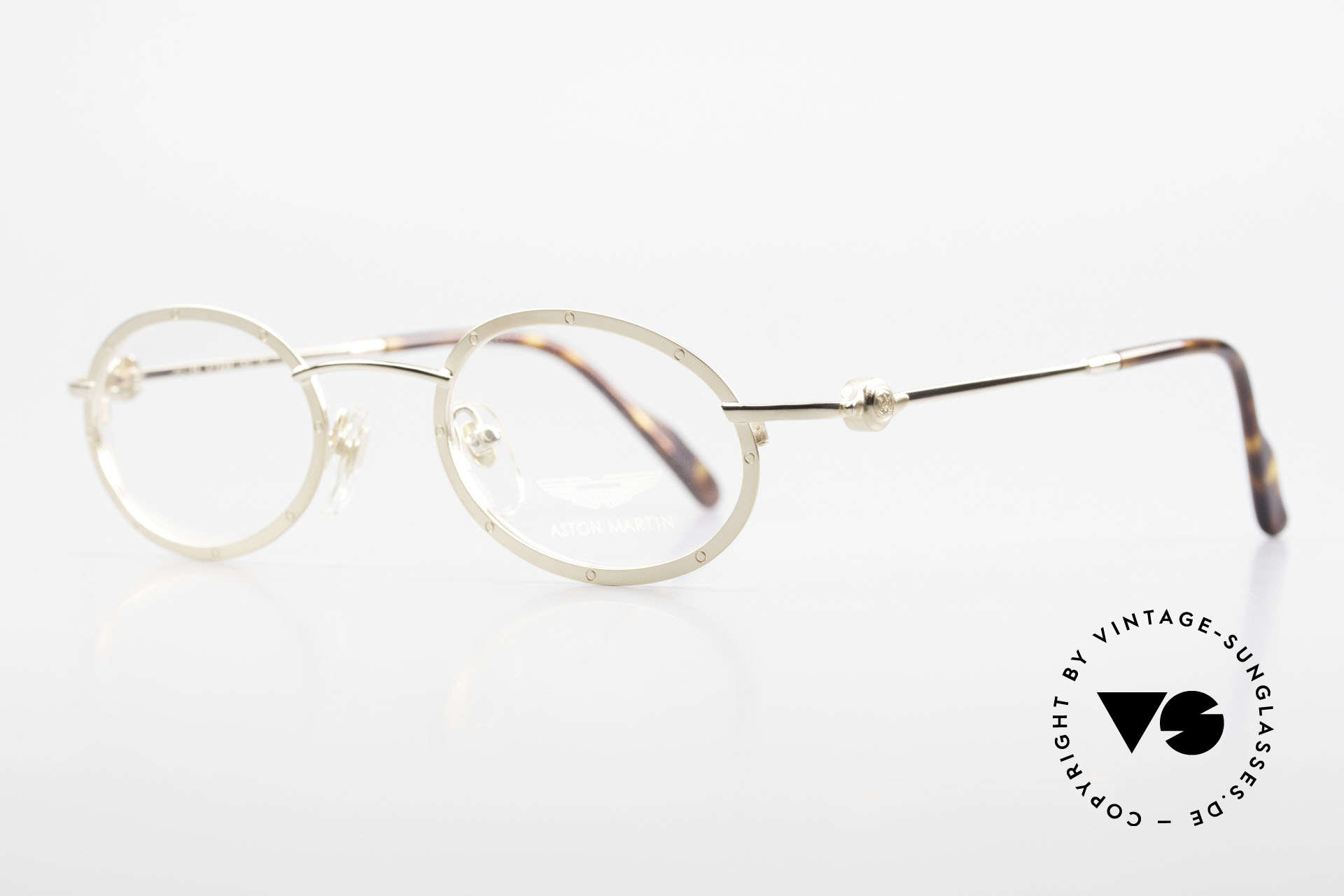 Aston Martin AM34 Oval James Bond Glasses 007, sporty and elegant classic: James Bond 'gentlemen style', Made for Men