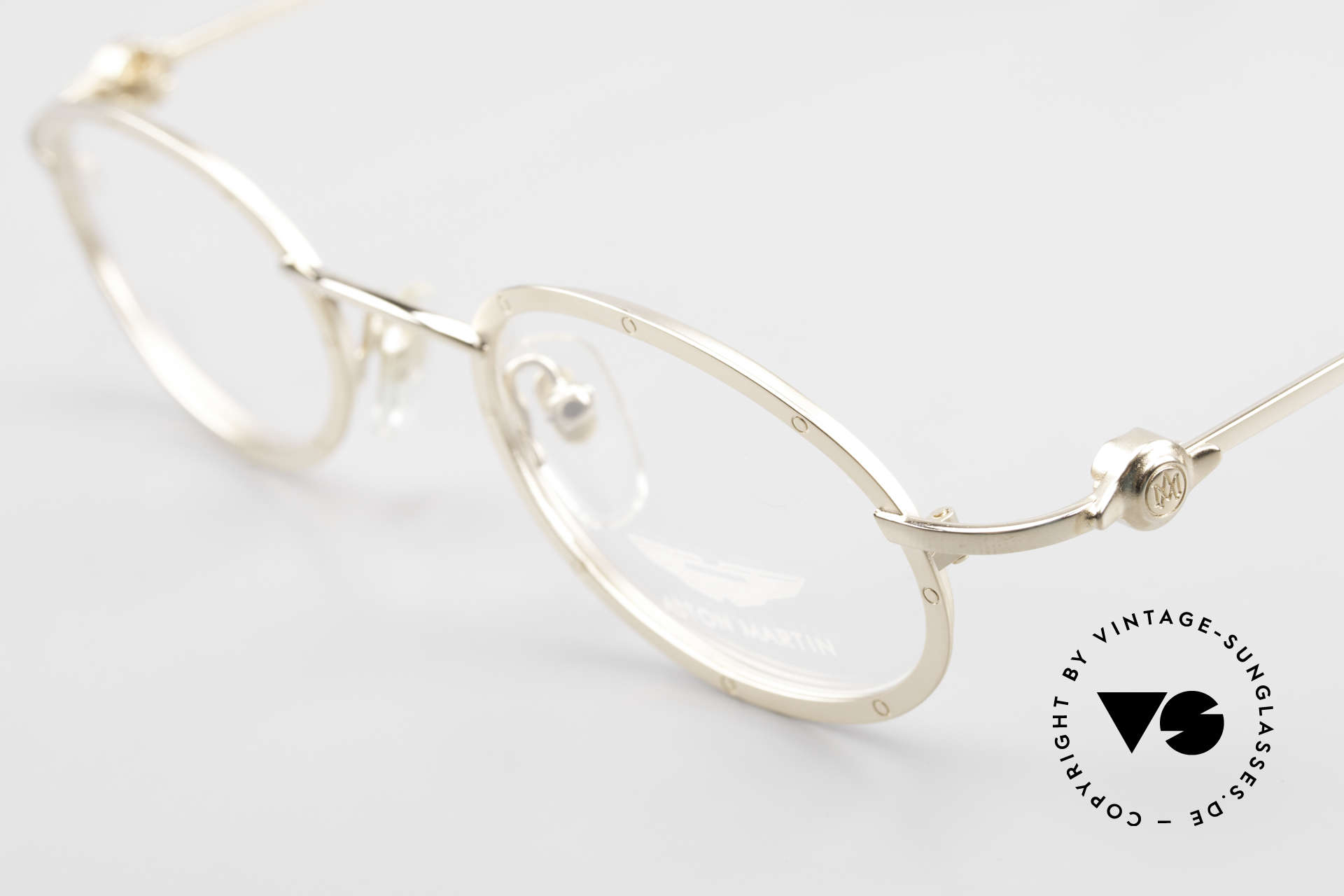Aston Martin AM34 Oval James Bond Glasses 007, never worn (like all our rare VINTAGE high-end frames), Made for Men