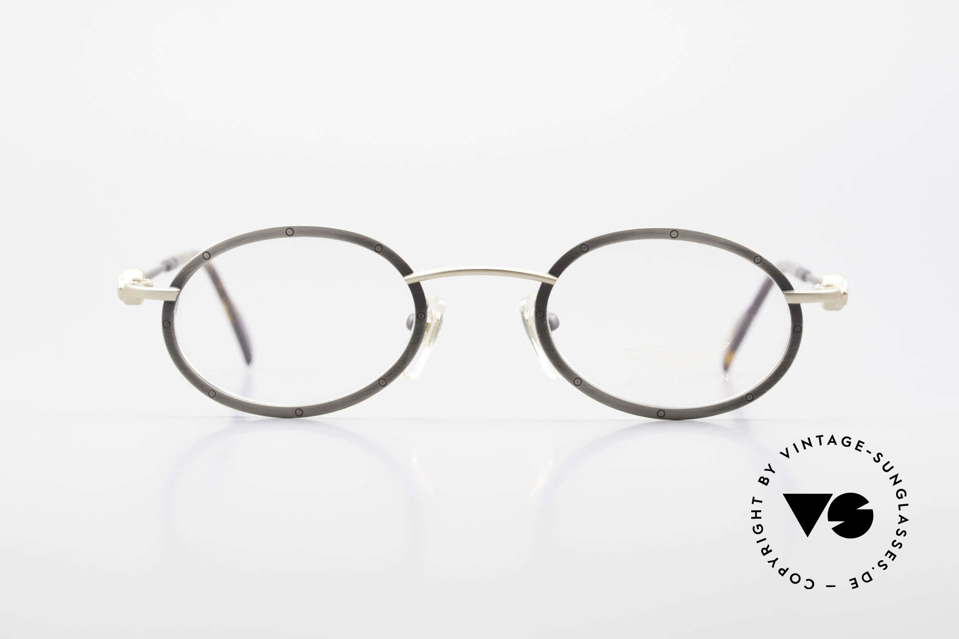 Aston Martin AM34 Oval Vintage Frame James Bond, accessory for the luxury British sports cars; just noble!, Made for Men