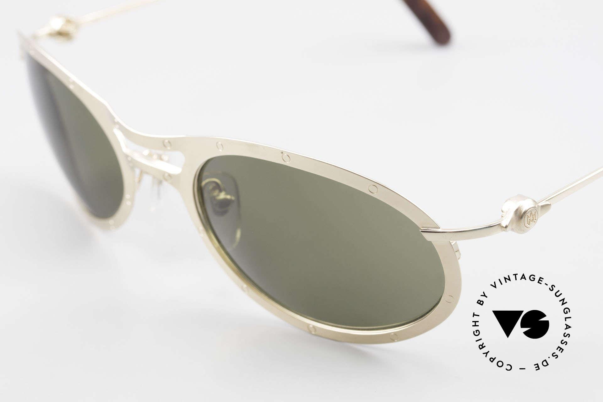 Aston Martin AM33 Sporty Luxury Sunglasses 90's, precious rarity in TOP-quality + orig. Aston Marin case, Made for Men