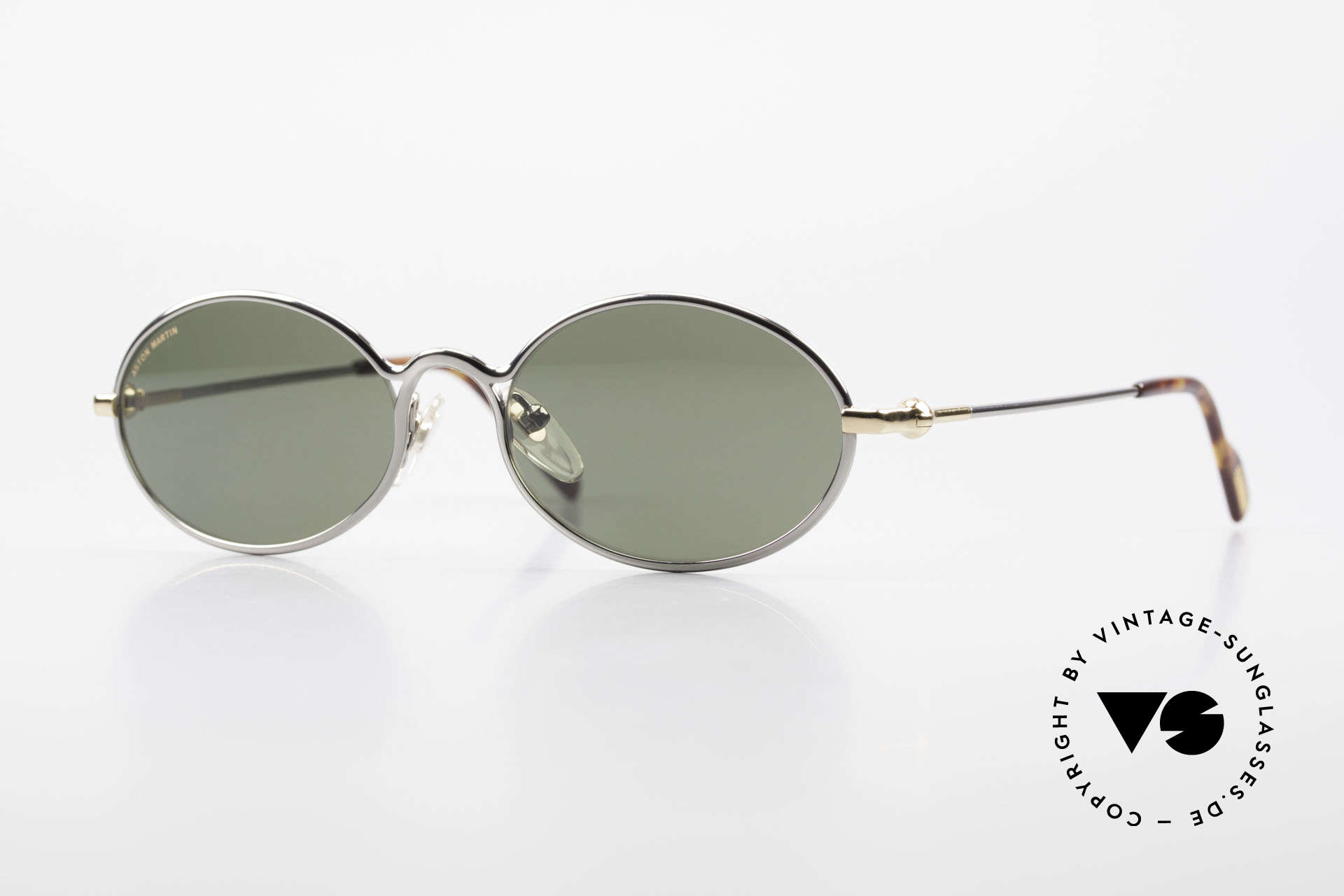 Aston Martin AM13 Oval Shades James Bond Style, Aston Martin vintage luxury designer sunglasses, 52°17, Made for Men